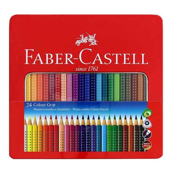Faber Castell 24er Colour Grip Buntstift Metalletui Set