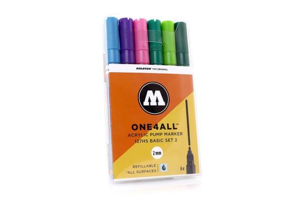 MOLOTOW ONE4ALL Marker 6er Set - 127HS Basic Set 2