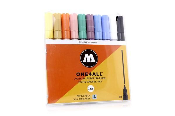 MOLOTOW ONE4ALL Marker 10er Set - 127HS Pastel Set