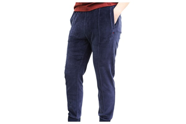 Champion Hose - Velours Tapered Cuffed Pants - Dark Navy Red