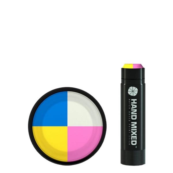Hand Mixed Marker KAWAII Lite - Gelb Hellblau Weiss Pink