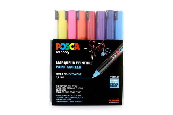Posca Marker Set PC-1MRx16 Standard Colours