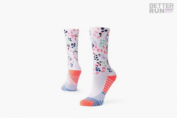 Stance Socks - Training Woman Chipper Crew - White Pink