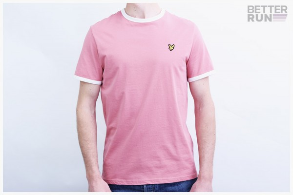 Lyle & Scott T-Shirt - Ringer Shirt - Pink Shadow Snow White