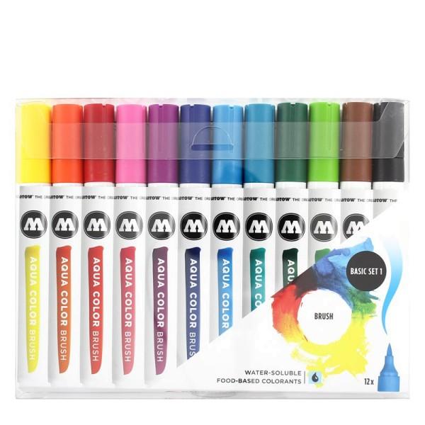 Molotow Marker Aqua Color Brush - Basic Set 01