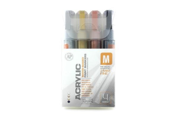 Montana Acrylic Marker 4er Set - 2mm